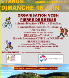Pierre de Bresse 16 juin (VCBN) Rando des Etangs