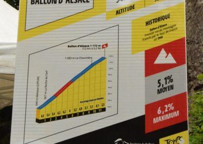 Montée du Ballon d'Alsace côté Giromangy/Lepuix-Gy : labellisation route historique du Tour de France